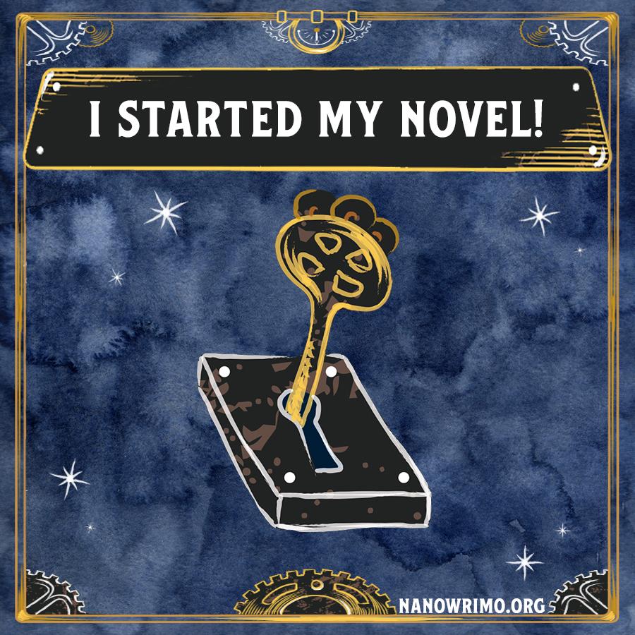Day 1 writing badge